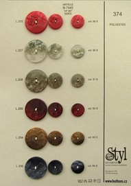 Polyester buttons and buckles 370